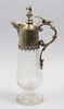Vinkaraff, glas samt metall, sent 1800-tal.