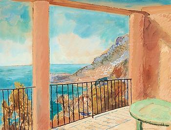 6. ISAAC GRÜNEWALD, Utsikt från terrassen, Medelhavet.