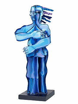 219. Timo Solin, Blue woman.