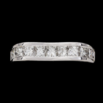8. RING, prinsesslipade diamanter, tot. ca 1.10 ct.