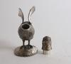 Figur/flaska, silver, tyskland med svenska importstämplar.