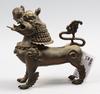 Figurin, brons, kina, 1900-tal.