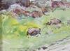 Hjortzberg, olle, akvarell, signerad och daterad  58
