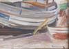 Simonsson, birger, olja på duk, signerad och dedikation daterad 1927 a tergo