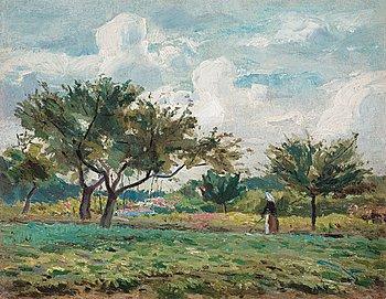 85. Carl Fredrik Hill, French Orchard.