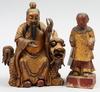 Skulpturer, 2 st, trä, kina.