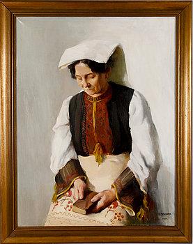 ELISABETH SCHIMA, olja på duk, sign och dat 1921.