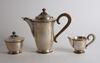 Kaffeservis, 3 delar, silver, sverige 1949