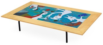 3. An Egon Möller-Nielsen enamel top sofa table, 1951,