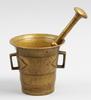 Mortel med stÖt, mässing. 1800-tal.