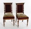 Stolar, ett par, nyrenässans. 1800 talets slut