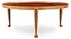 A josef frank walnut and burrwood sofa table, svenskt tenn, model 2139.