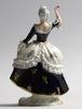 Figurin, porslin, royal dux, tjeckoslovakien.