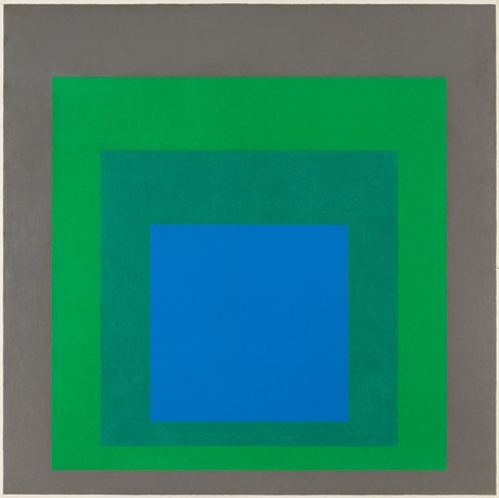 "Josef albers, ""study for homage to the square: 'starblue'""."