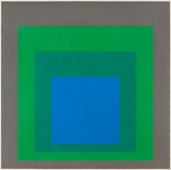"250. JOSEF ALBERS, ""Study for Homage to the Square: 'Starblue'""."
