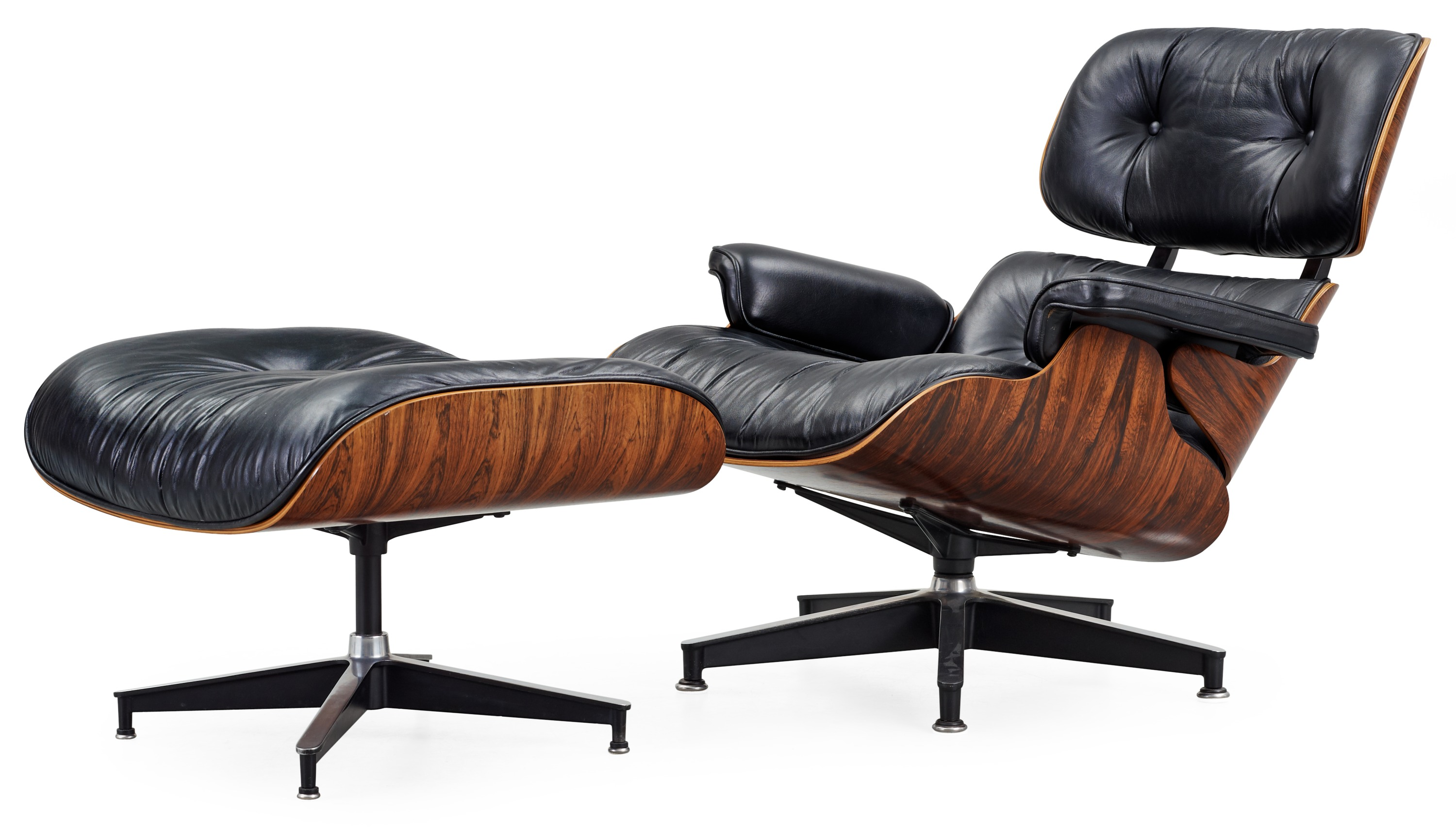 charles ray eames lounge chair and ottoman herman miller usa 1970 80 tal bukowskis. Black Bedroom Furniture Sets. Home Design Ideas
