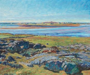 """14. Nils Kreuger, """"Getterön vid Varberg"""" (Landscape from Varberg)."""