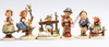 Figuriner, 6 st. hummel, goebel. västtyskland.