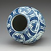A large blue and white jar, ming dynasty, wanli (1573-1620).