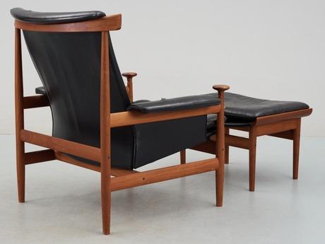 a finn juhl bwana easy chair with ottoman france son denmark