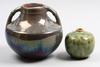 Urnor, 2 st, keramik, höganäs, bla henning nilsson, 1900-talets första hälft.