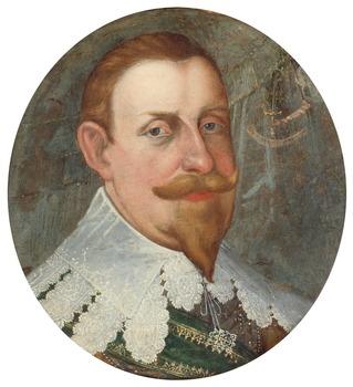 "324. Cornelius Arendtz Attributed to, ""King Gustaf II Adolf"" (1594-1632)."