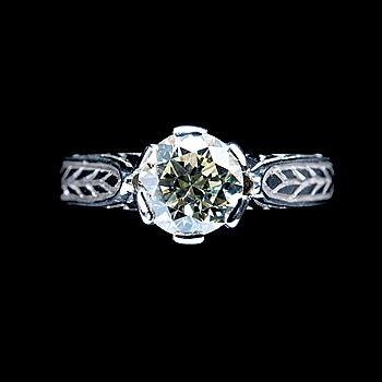 13. A RING, brilliant cut diamond c. 1.5 ct, J-K/vs.