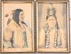OkÄnd konstnÄr. 4 st, akvareller, två bär sign johansson. dat 1920-talet.