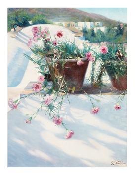 12. Gustaf Theodor Wallén, Mediterranean still life with flowers.