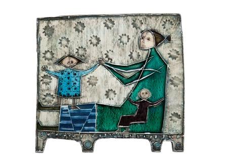 Rut bryk, a ceramic relief.