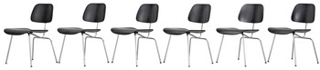 12. A set of six Charles & Ray Eames 'DCM' chairs by Vitra.