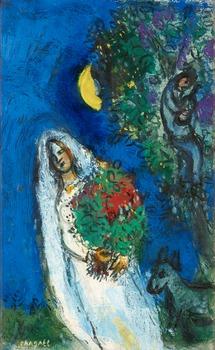 "232. Marc Chagall, ""La Mariée à la Lune""."