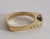 Ring, guld 14k med briljant c:a 0.59 ct.