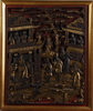 VÄggrelief, trä, kina. 1900-tal.