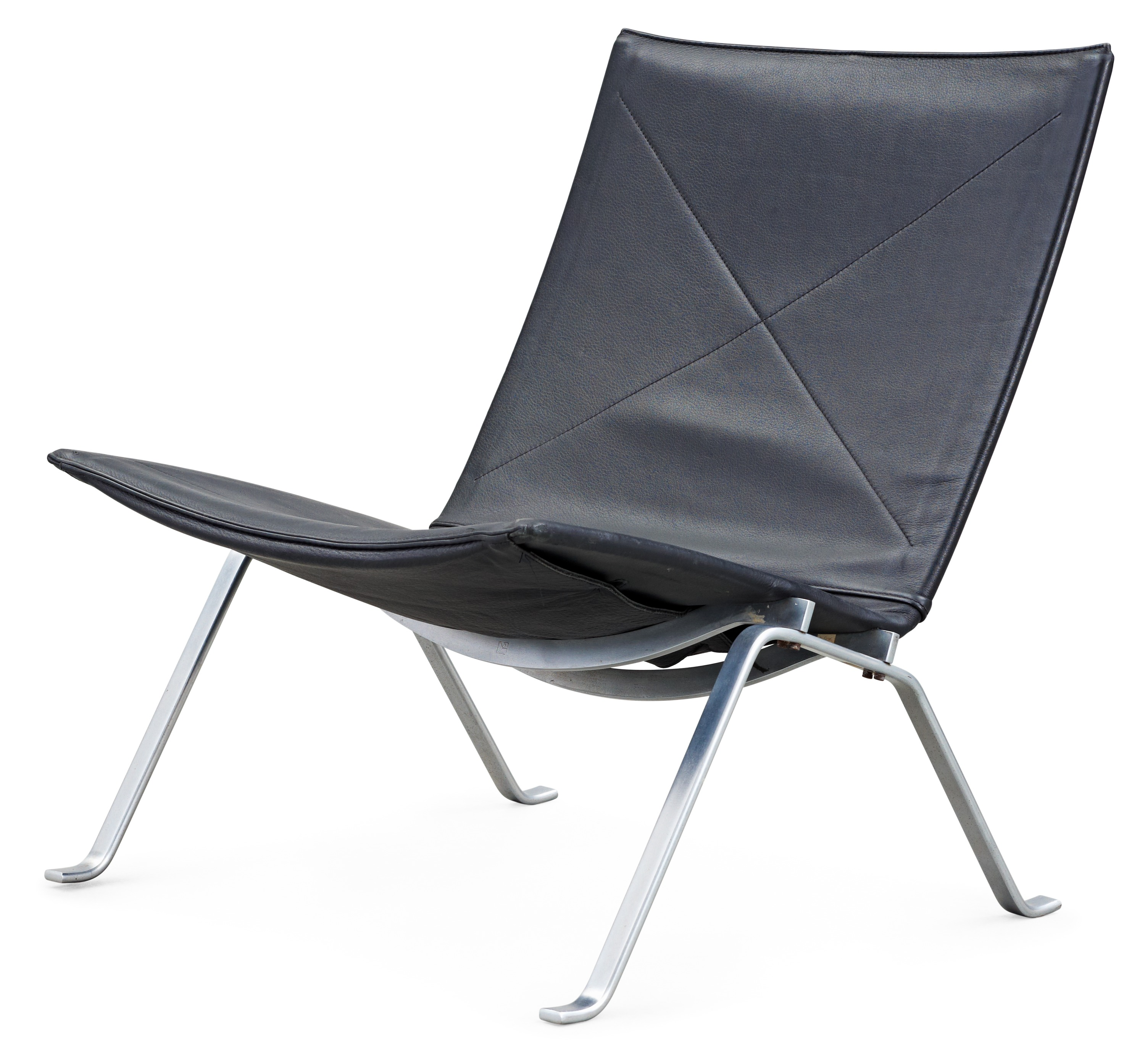 Remarkable A Poul Kjaerholm Pk 22 Black Leather And Steel Easy Chair Inzonedesignstudio Interior Chair Design Inzonedesignstudiocom