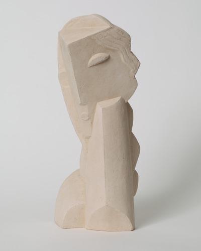 """Henri laurens, """"tête de jeune fillette""""."""