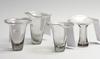 Vaser, 4 st, glas, vicke lindstrand, kosta.
