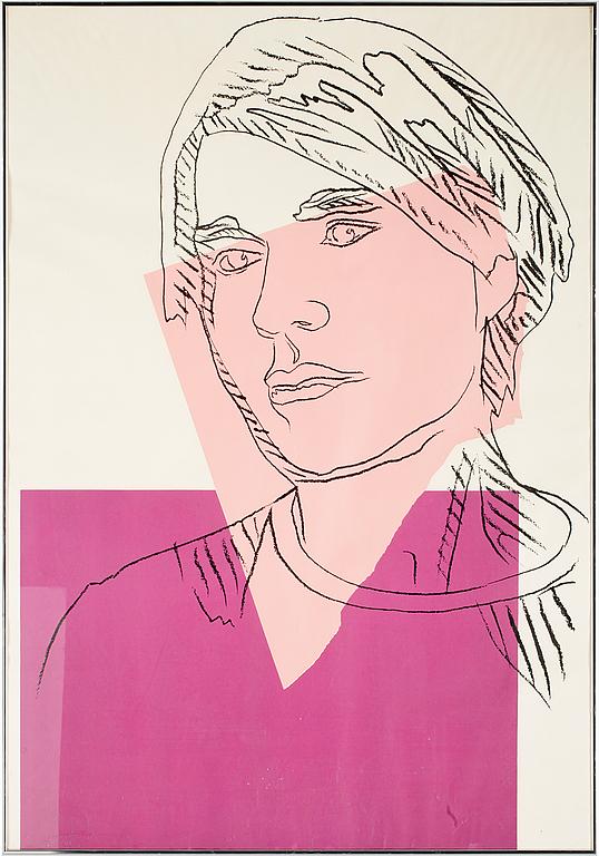 ANDY WARHOL, färgserigrafi. 1978.