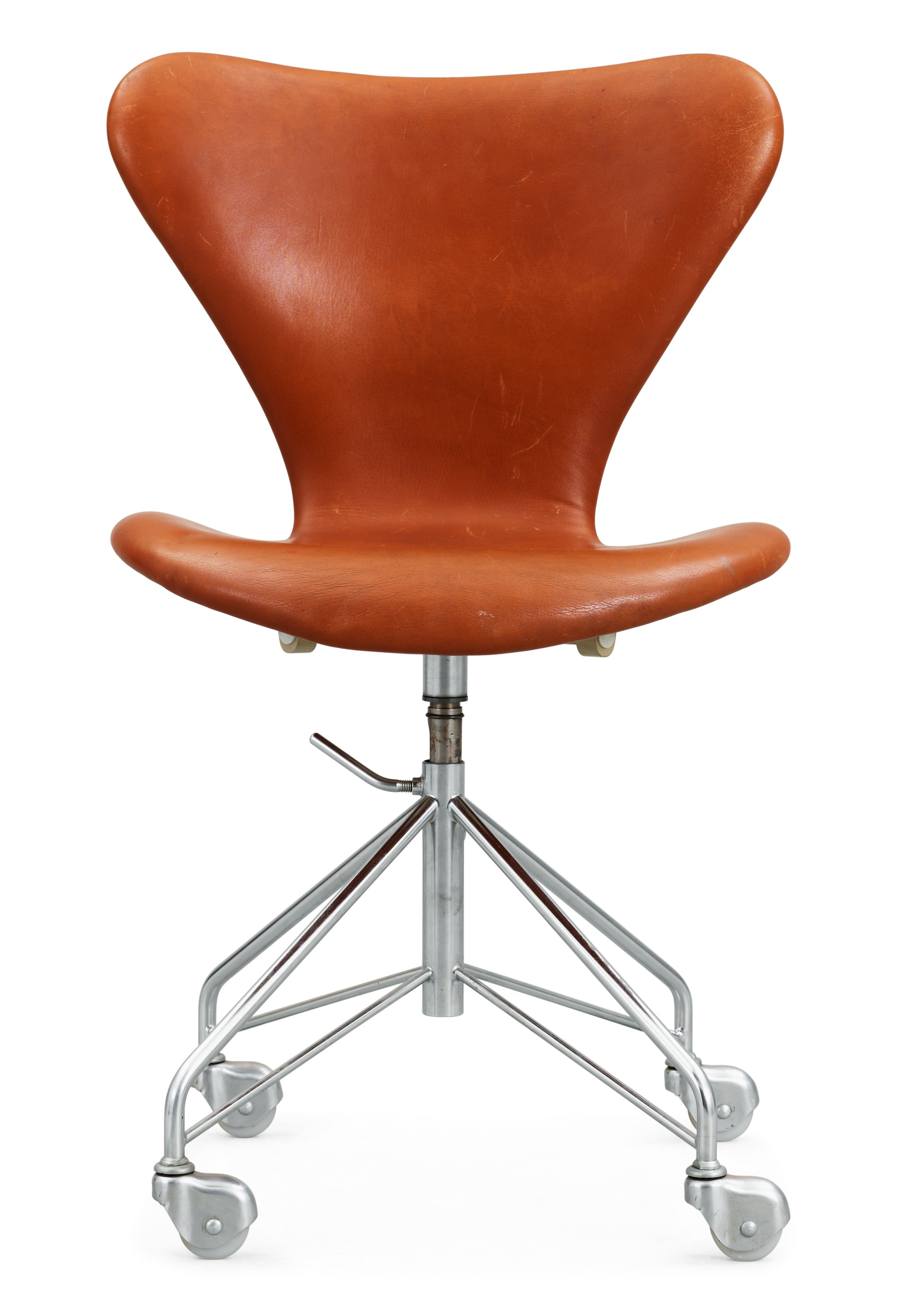 An Arne Jacobsen Series 7 Desk Chair By Fritz Hansen Denmark