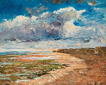 70. Carl Fredrik Hill, Dark clouds over the cliffs, Luc-sur-Mer.