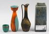 Parti keramik, 4 st, bla gunnar nylund och carl harry stålhane.