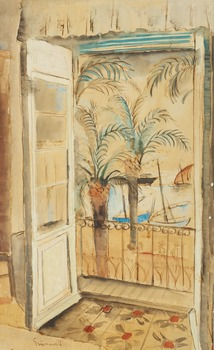 7. Isaac Grünewald, View from the balcony.