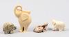 Parti elefanter, keramik, bla lisa larson.