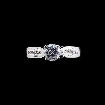 109. RING, briljantslipad diamant ca 0.70 ct H/p2.