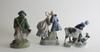 Parti figuriner, 3 st, porslin, danmark.