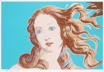 "203. Andy Warhol, ""Venus"", from: ""Details of renaissance paintings (Sandro Botticelli, Birth of Venus, 1482)""."