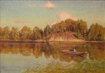 JOHAN KROUTHÉN, olja på duk, sign och dat 1907.