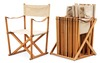 A set of six folding chairs with stand by mogens koch, interna, denmark.