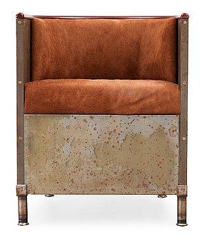 A Mats Theselius easy chair 'Järn/Moccafåtöljen' by Källemo,