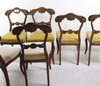 Stolar, 6 st, nyrokoko, 1800 talets andra hälft